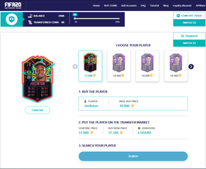 player auction fifa 21 coins player packs