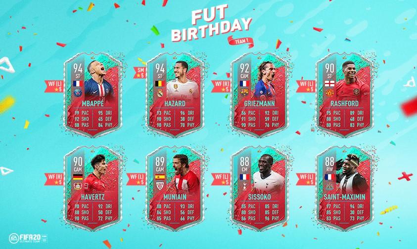 FUT Birthday FIFA 20