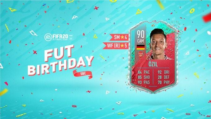 FIFA Birthday Cards 20