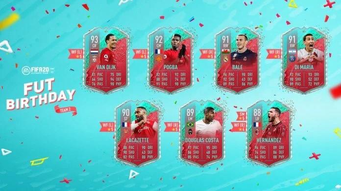 FIFA 20 Birthday Cards