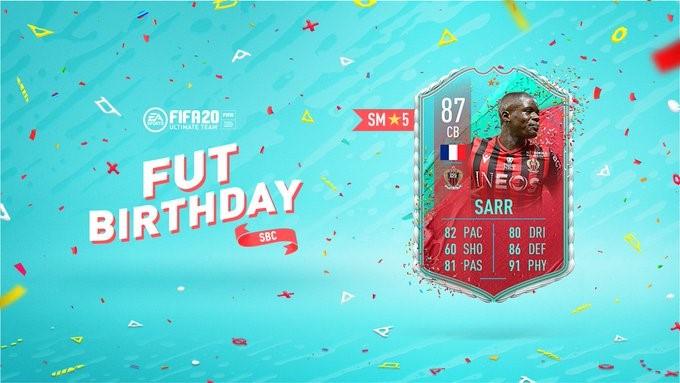 FUT Birthday Card SARR