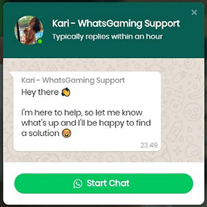 WhatsGaming FUT 20 Coins Whatsapp Support