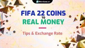 Monedas FIFA 22 a tipo de cambio de dinero real