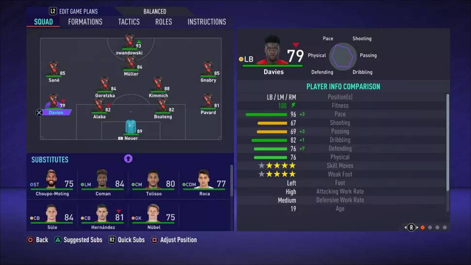 FIFA 21 Formations 4-2-3-1 Wide