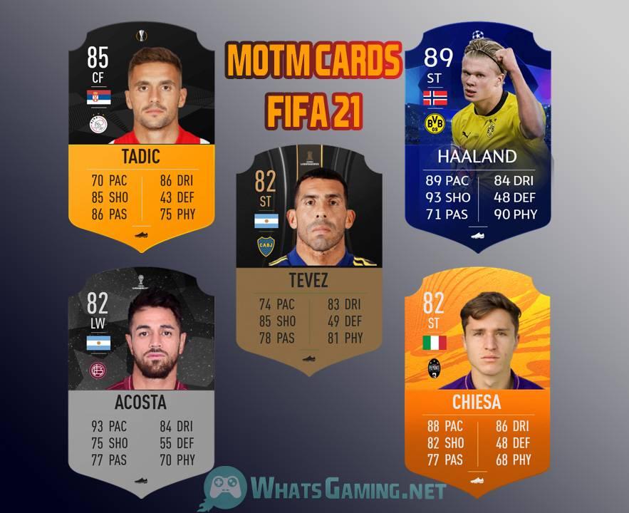 بطاقات FIFA 21 MOTM