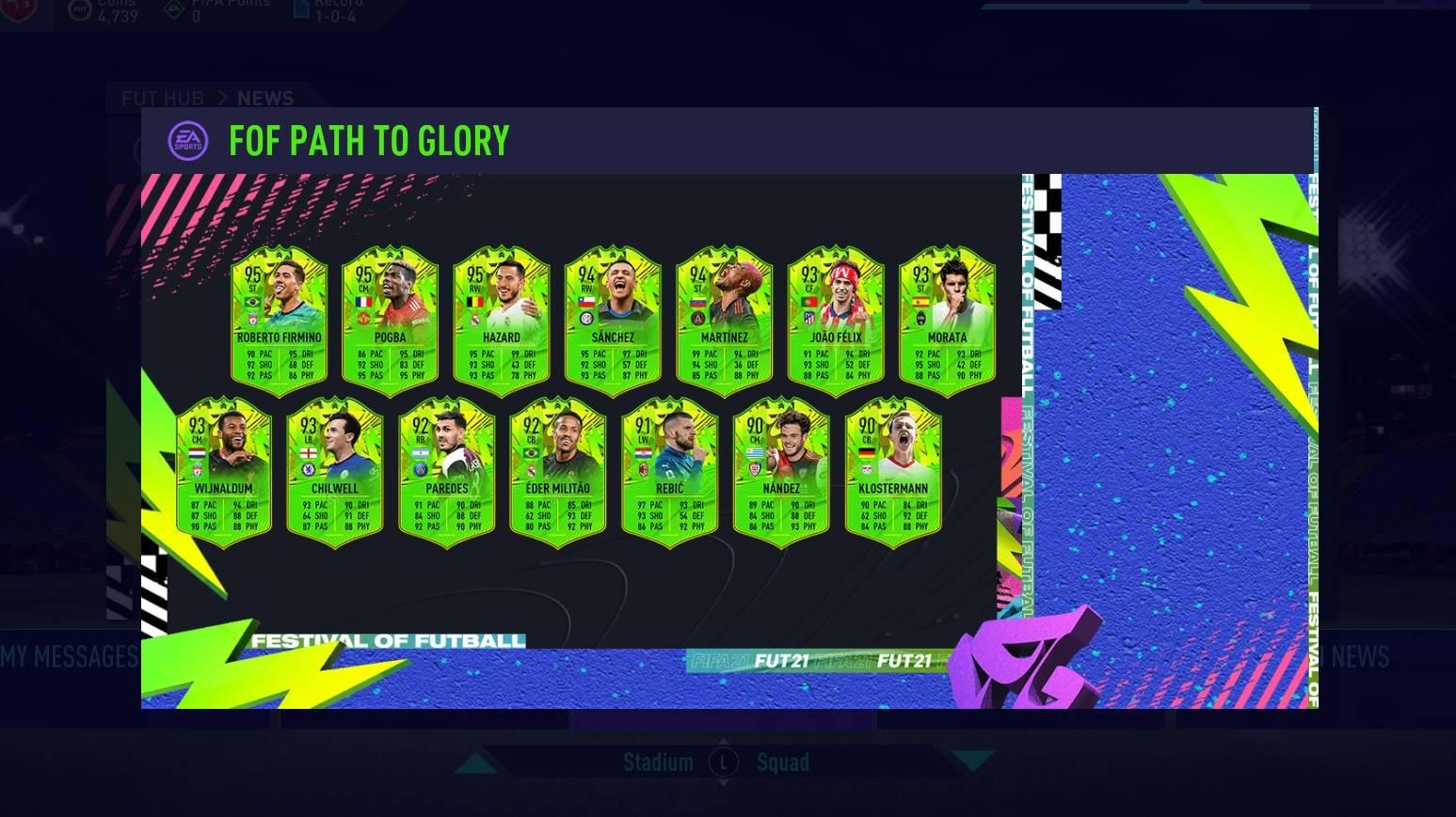 FIFA 21 Festival of FUT Cards Upgrades