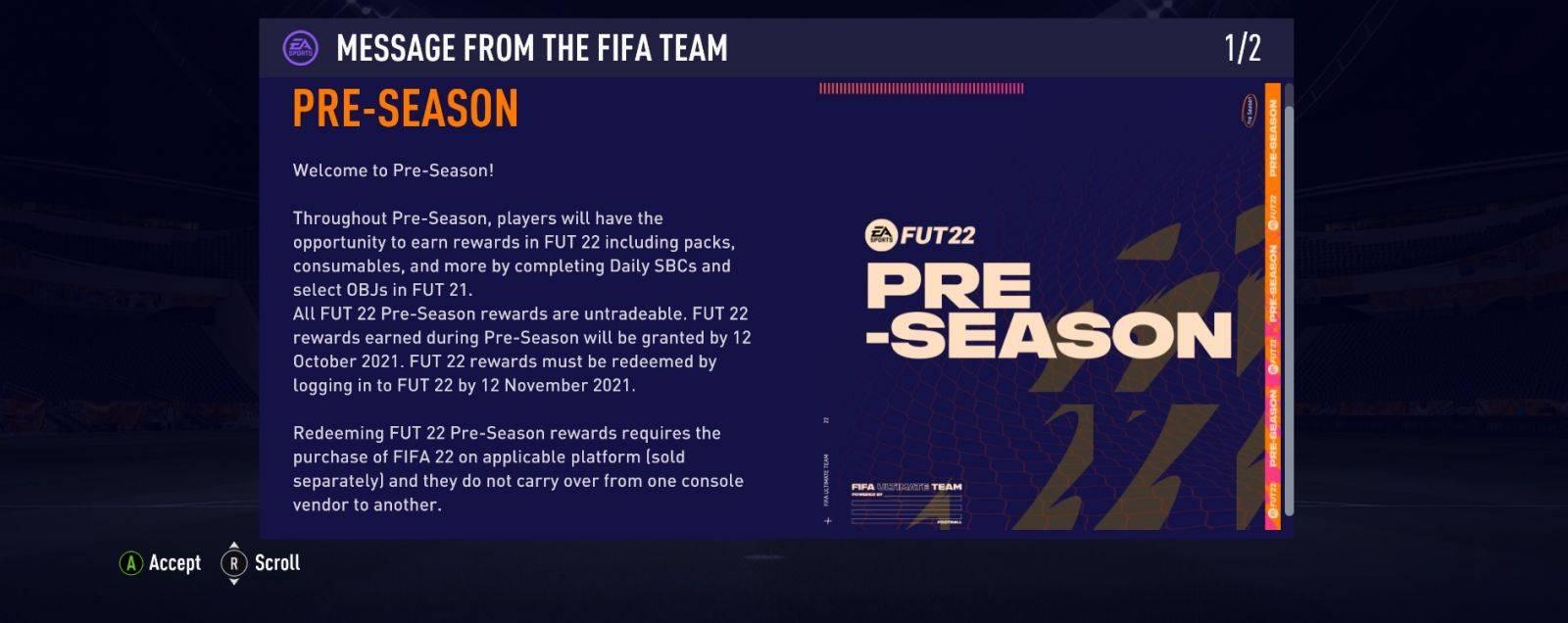 FIFA 22-Pre-Season-Geschenke