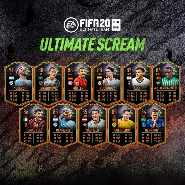 FIFA Scream Cards